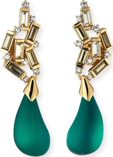 Alexis Bittar Cluster Teardrop Earrings, Green