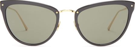 Linda Farrow Cat-eye gold-plated sunglasses