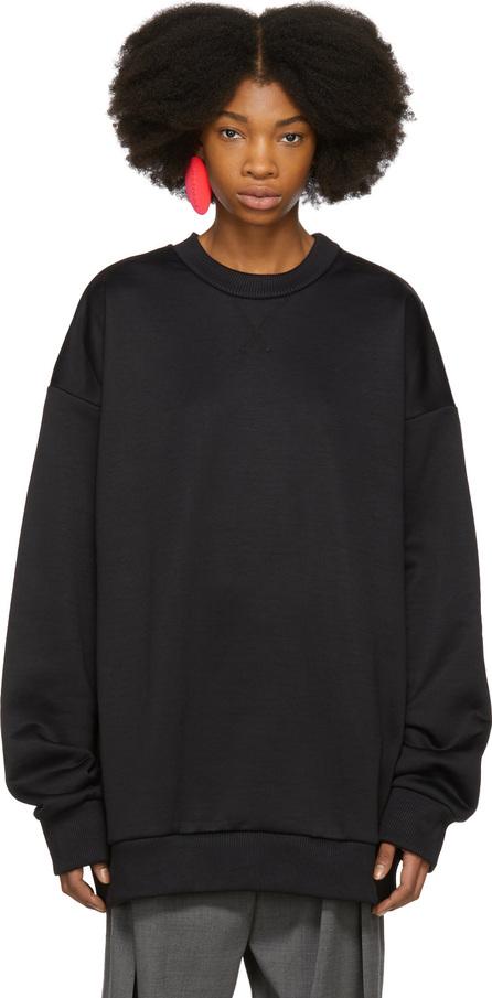 Marques'Almeida Black Oversized Sweatshirt Dress