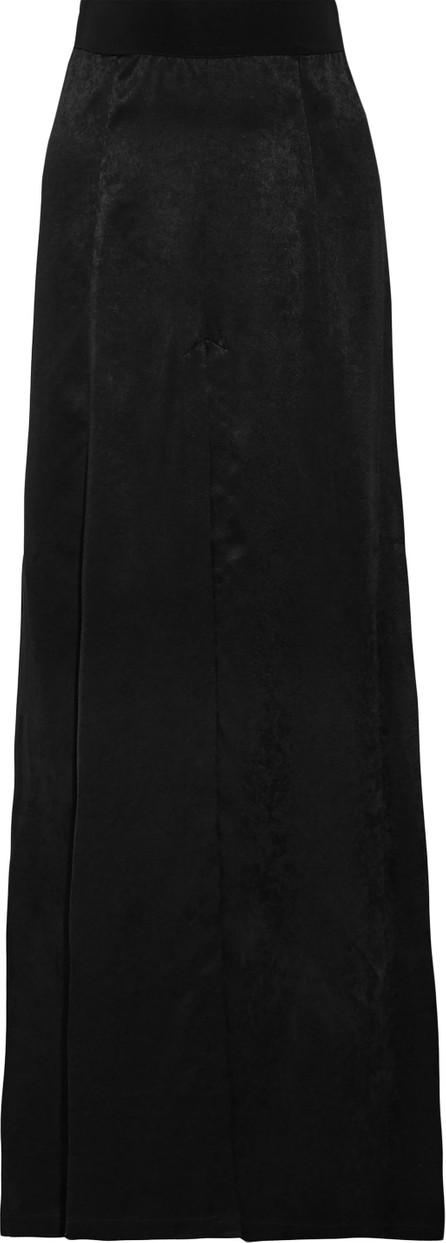 Ann Demeulemeester Pleated satin maxi skirt