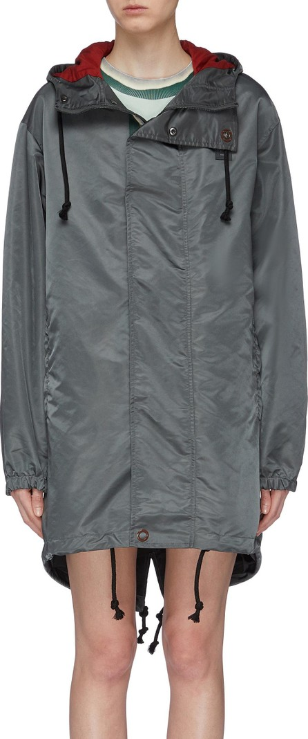 Acne Studios Face patch water resistant hooded parka