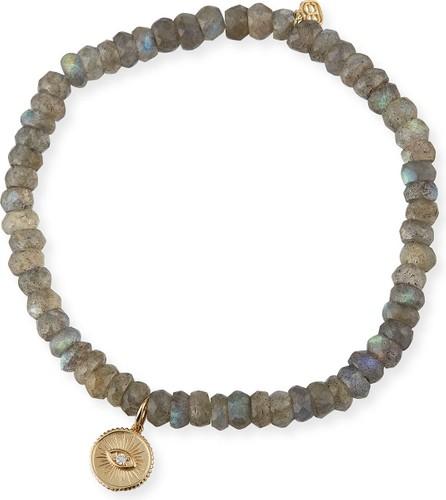 Sydney Evan 14k Diamond Eye Coin Labradorite Bracelet