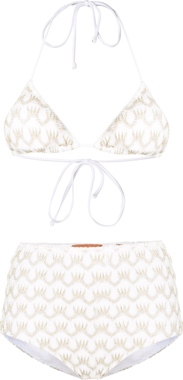 Missoni - Striped triangle bikini top