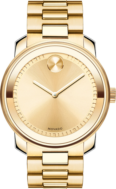 Movado 42.5mm Gold IP Stainless Steel Watch