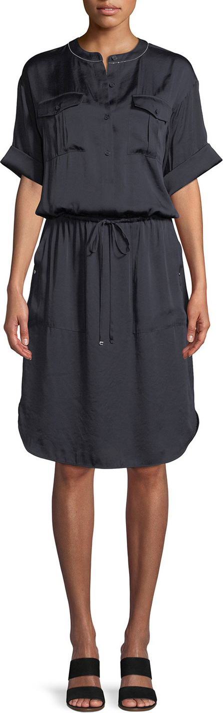 Lafayette 148 New York Benson Luminous Cloth Shirt Dress