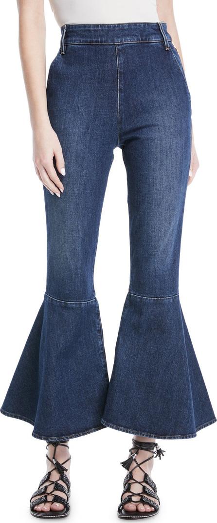 FRAME DENIM High-Waist Cropped Flare-Leg Jeans