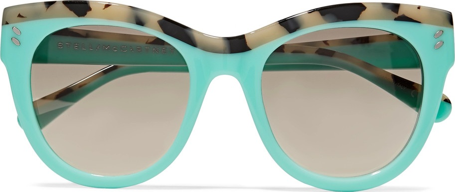 a52732cb9eb0 Stella McCartney D-frame acetate mirrored sunglasses - Mkt