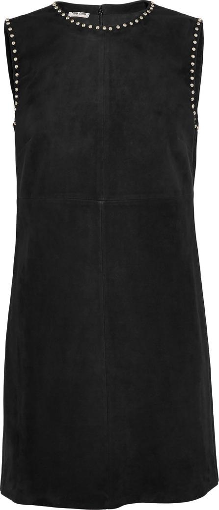 Miu Miu Studded suede mini dress