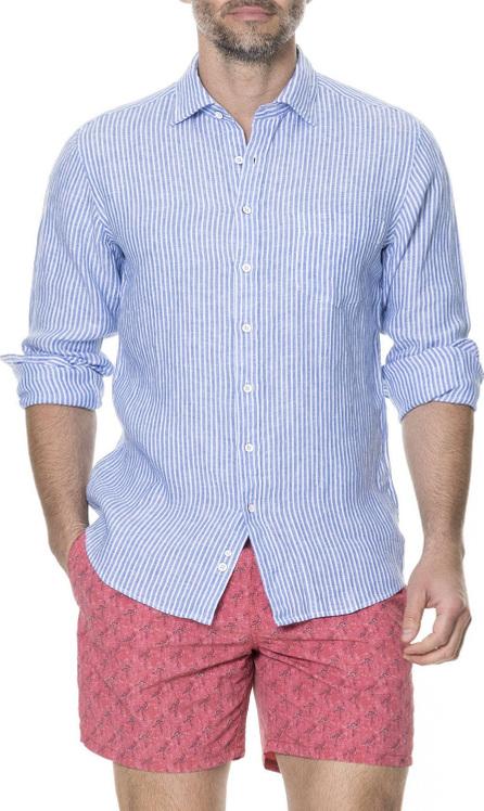 Rodd & Gunn Men's Derby Striped Linen Sport Shirt