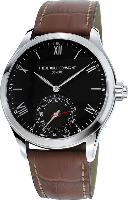 Frederique Constant Gents 42mm Horological Smartwatch w/Leather Strap