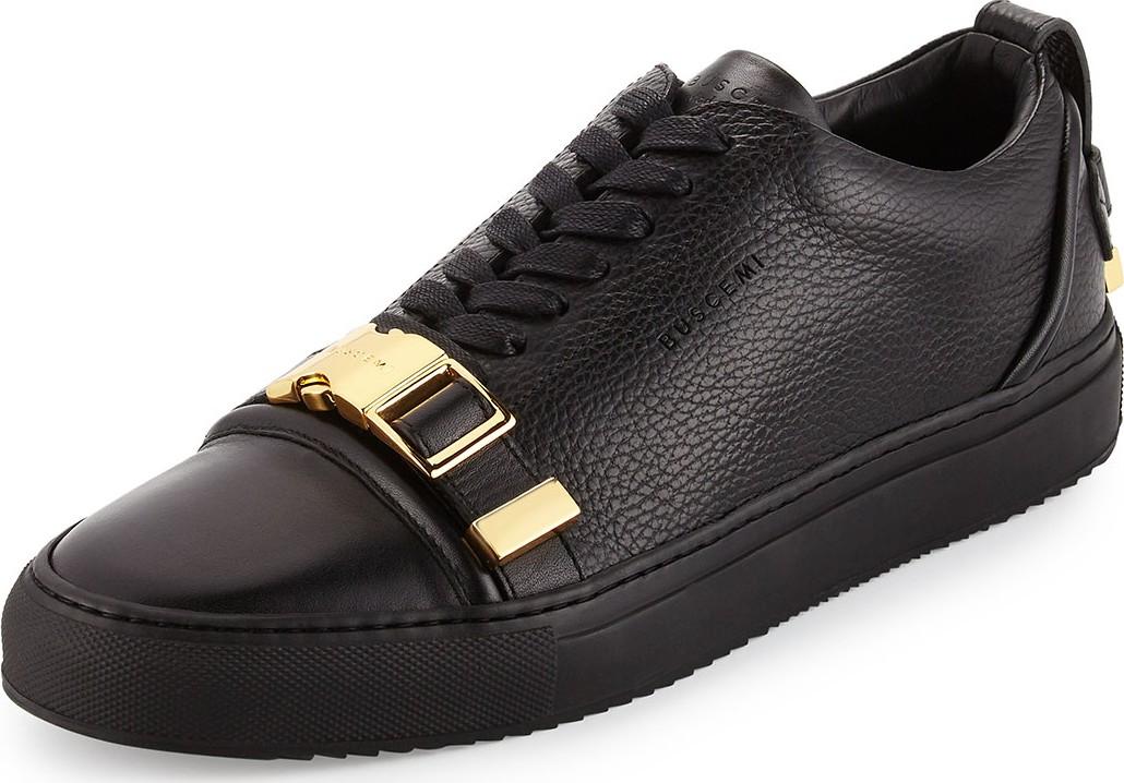 50mm Low-Top Sneakers, Black - Luxed