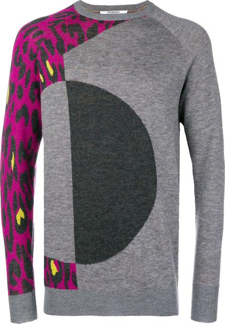 Chalayan Leopard print panelled jumper