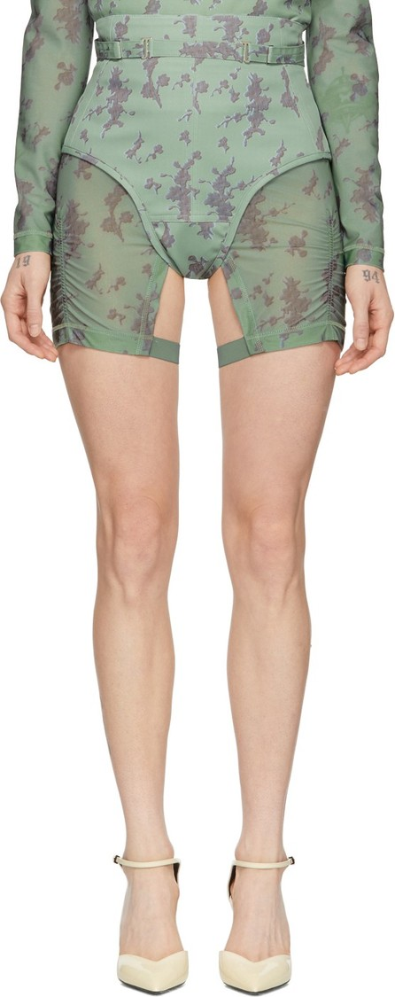 Charlotte Knowles Green Harness Corset Shorts