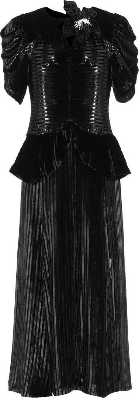 Erdem Diantha velvet dress
