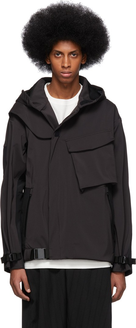 The Viridi-Anne Black Big Pocket Shell Jacket