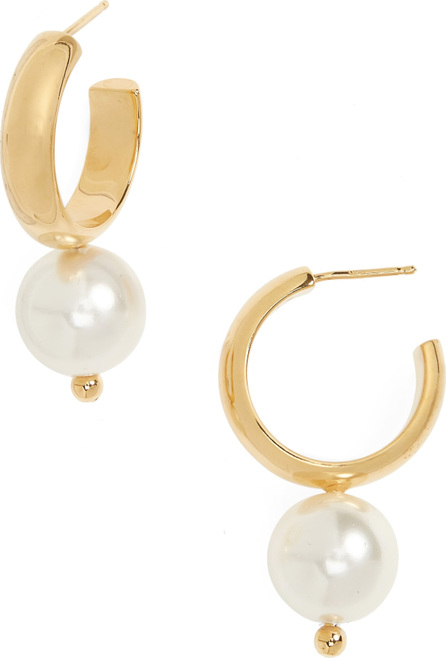 Simone Rocha Imitation Pearl Hoop Earrings
