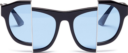 PERCY LAU 'Axis Y' distorted acetate sunglasses