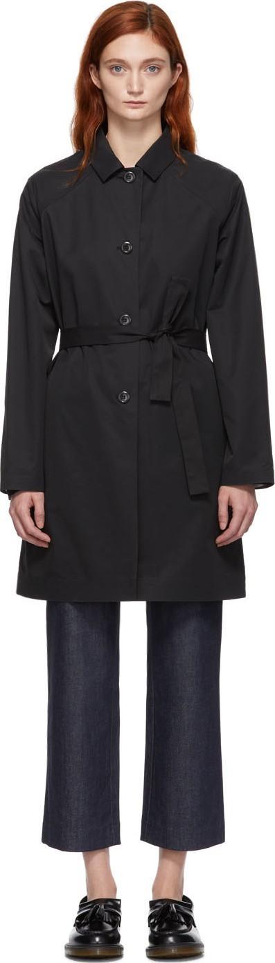 A.P.C. Black Ada Trench Coat