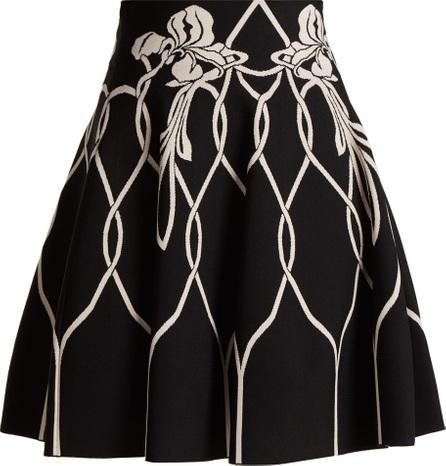 Alexander McQueen Art Nouveau floral-intarsia knitted midi skirt