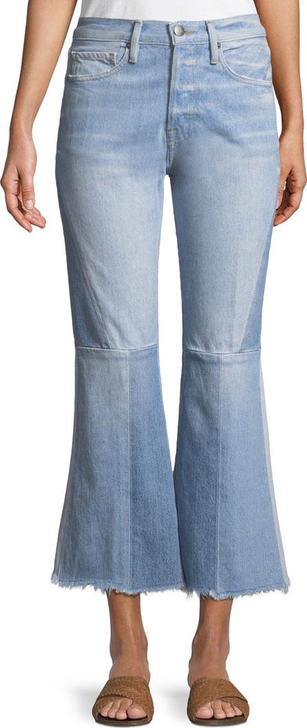 FRAME DENIM Le Panel Block Cropped Flare-Leg Jeans