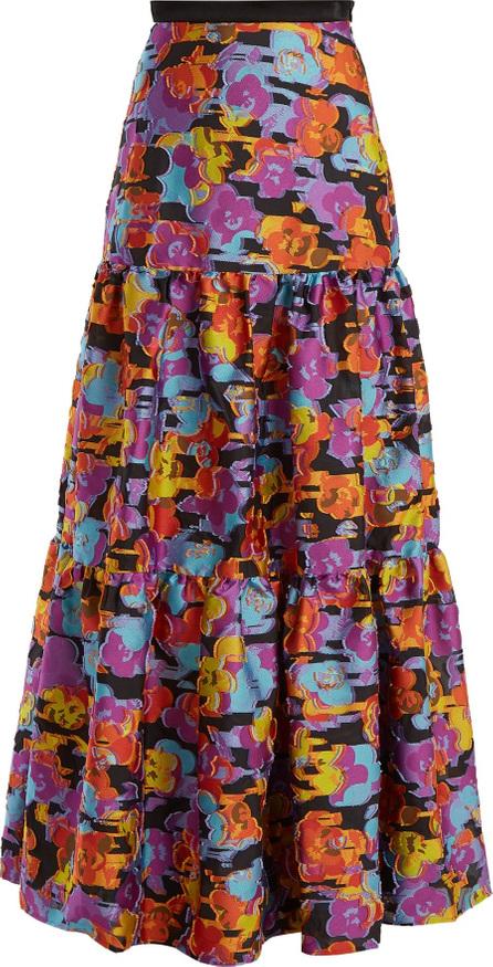Mary Katrantzou Bridge floral fil-coupé skirt