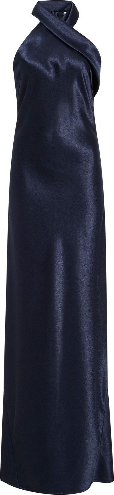 Galvan Asymmetrical Satin Gown