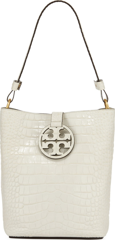 Tory Burch Miller Embossed Leather Hobo Bag