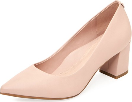 Taryn Rose Madline Leather Pointed Pumps