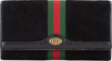 Gucci Ophidia Suede Wallet On A Chain