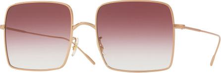 Oliver Peoples Rassine Square Gradient Sunglasses, Rose Gold
