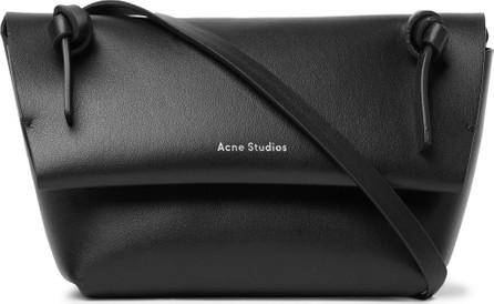 Acne Studios Mini Logo-Print Leather Messenger Bag