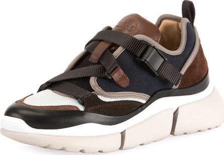 Chloe Sonnie Multicolor Buckle Sneakers
