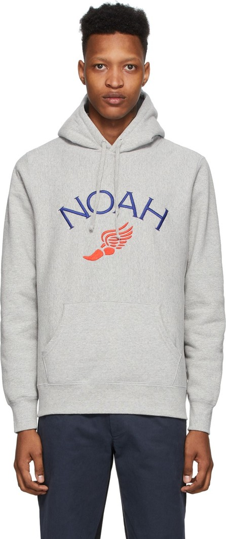 Noah NYC Grey Winged Foot Hoodie