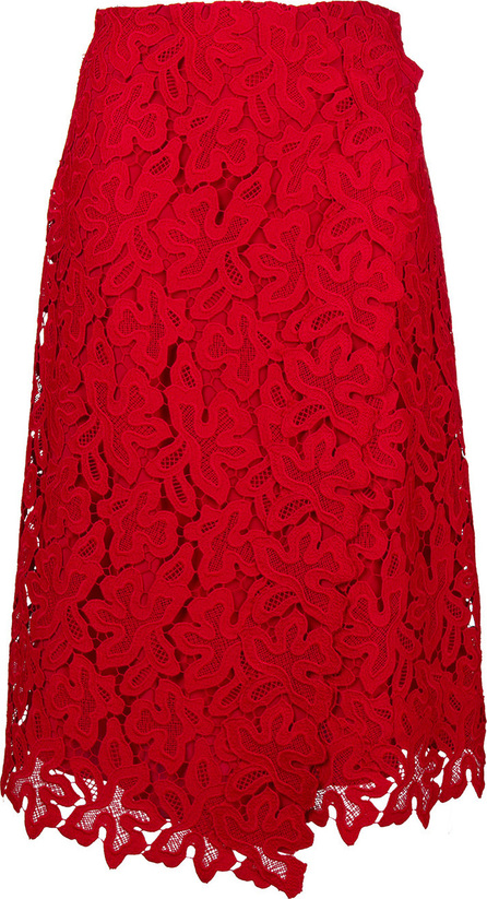 Ermanno Scervino Lace embroidered midi skirt