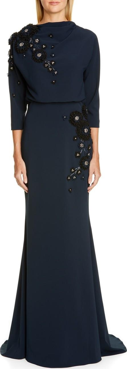 Badgley Mischka Badgley Mischka Couture Embellished Blouson Gown