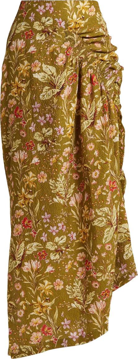 Preen Constance silk-blend midi skirt