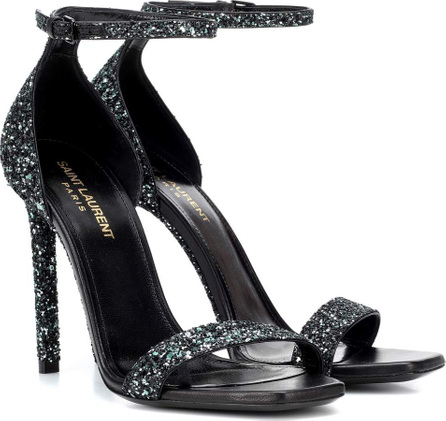 Saint Laurent Amber 105 glitter sandals