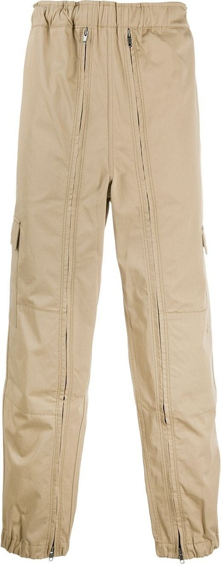 Random Identities Full zip multi-pocket cargo trousers