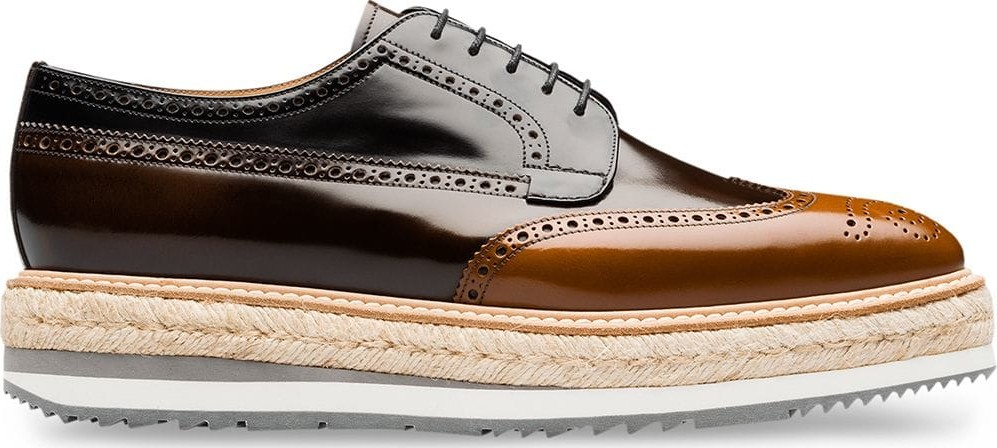 aec90ebaa41 Prada Leather platform derby shoes - Mkt