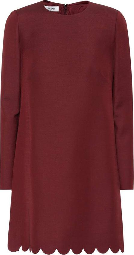 Valentino Scalloped wool and silk minidress
