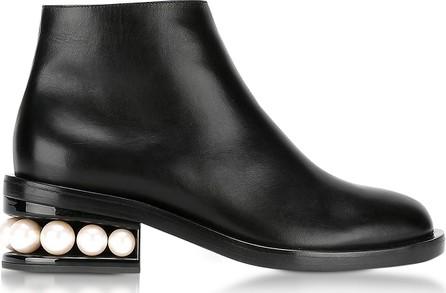 Nicholas Kirkwood Casati Black Leather Pearl Ankle Boot