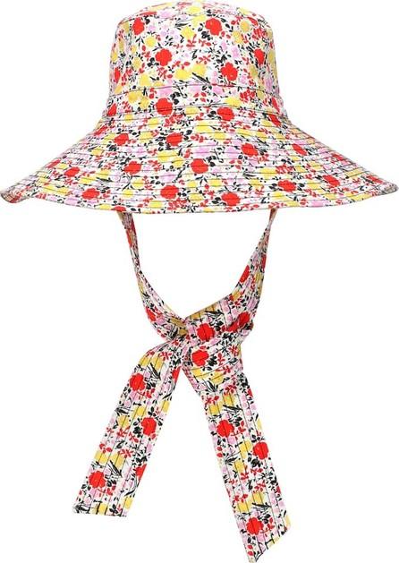 Ganni Exclusive to Mytheresa – floral wide-brim hat