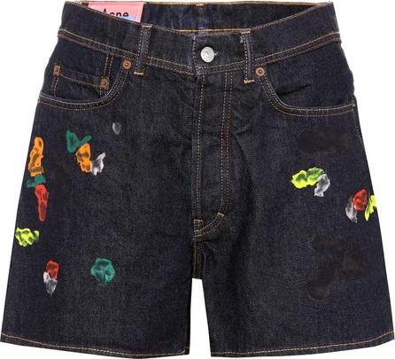 Acne Studios Blå Konst Swamp Gum denim shorts