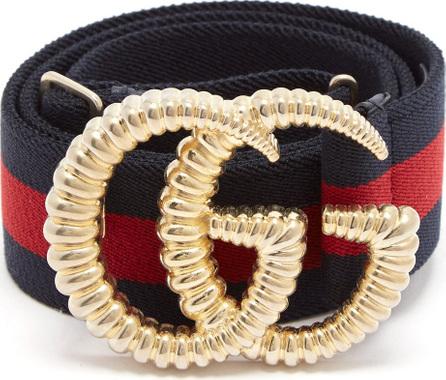 Gucci GG-logo 4cm elasticated web-stripe belt