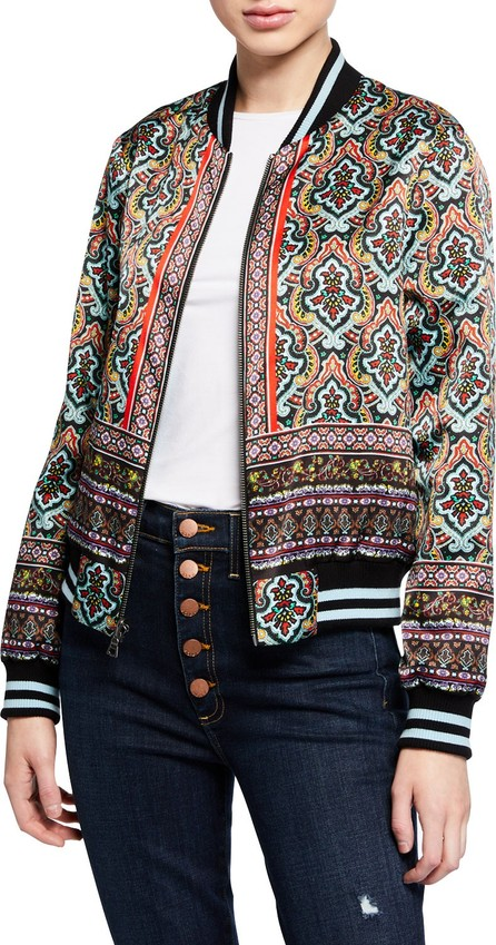 Alice + Olivia Lonnie Reversible Bomber Jacket