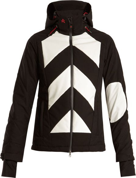 Perfect Moment Tignes hooded chevron ski jacket