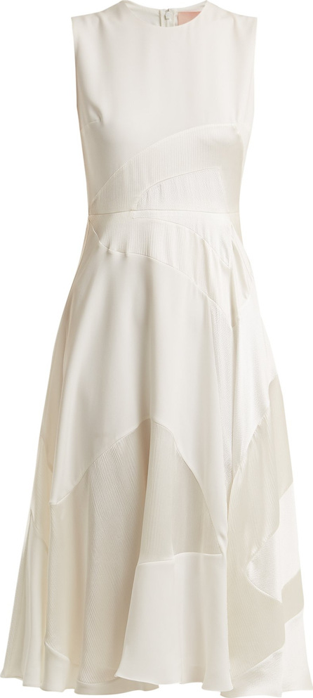 Roksanda Keanu paneled silk-satin dress
