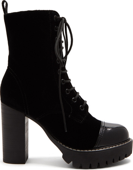 Alexachung Lace-up velvet boots