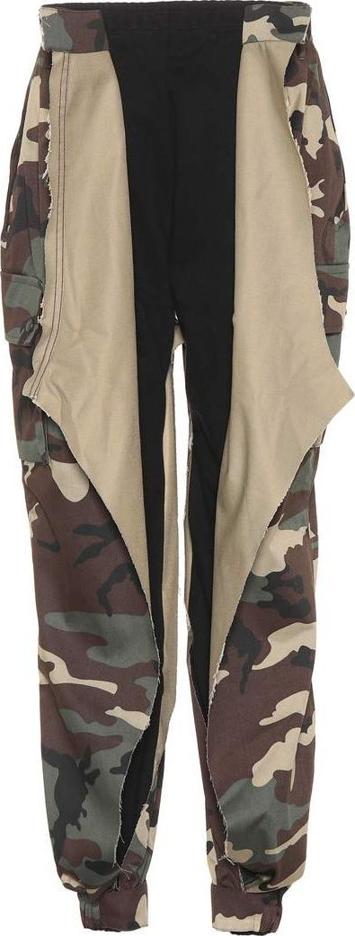 Cotton-blend combat trousers