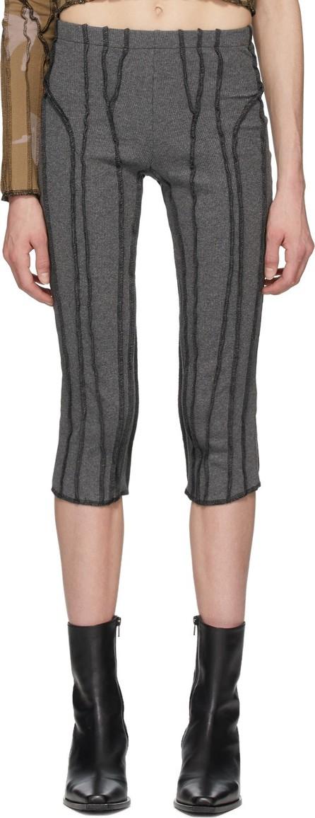 Helenamanzano Grey Capri 3D Stripe Lounge Pants